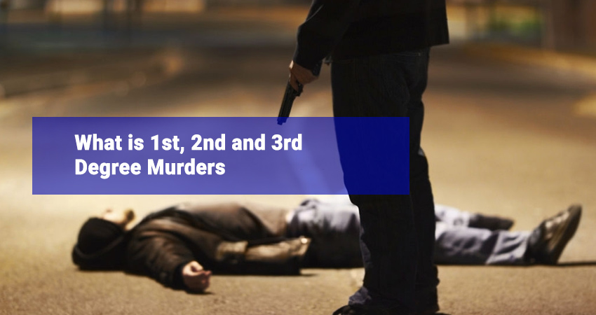 What is 1st, 2nd and 3rd Degree Murders